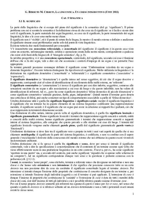 (DOC) Linguistica generale. 5. Semantica | Massimo