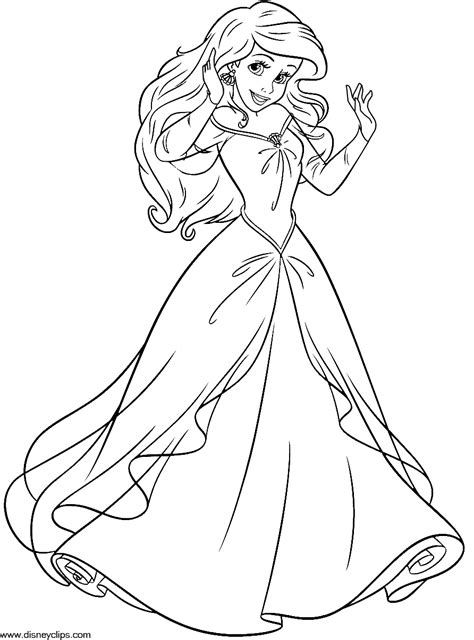 free coloring pages princess ariel the mermaid coloring pages ariel and eric