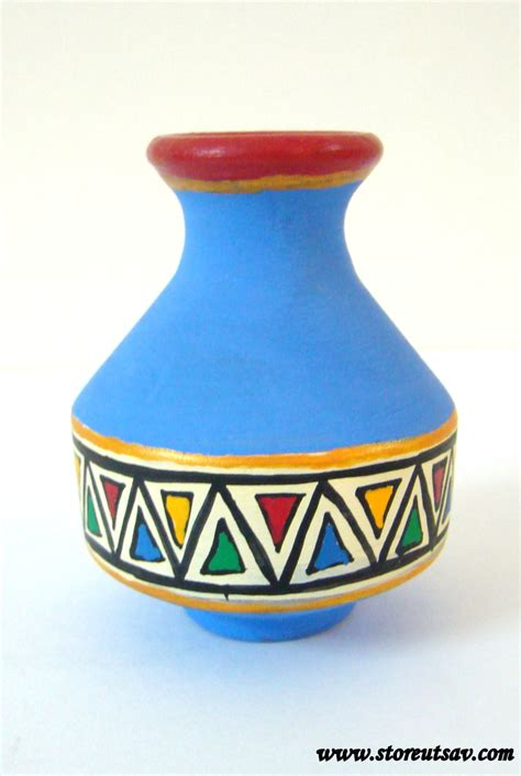vase pottery terracotta home decor indian handicraft