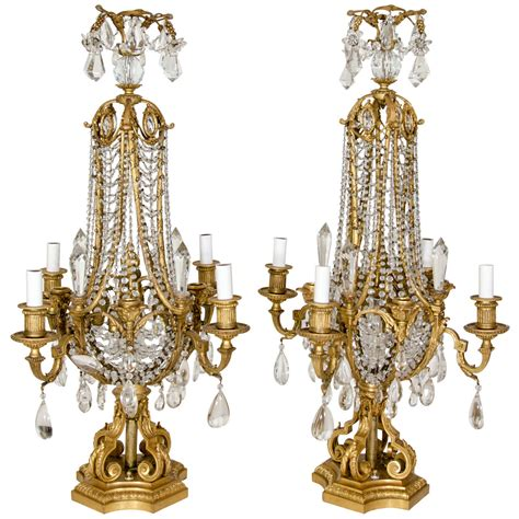 french crystal table ls pair french louis xvi gilt rbonze and crystal baccarat