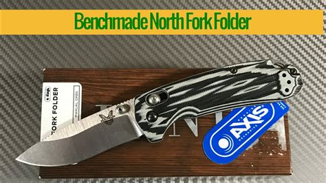 axis lock knife benchmade fork folder knife with axis lock and g10