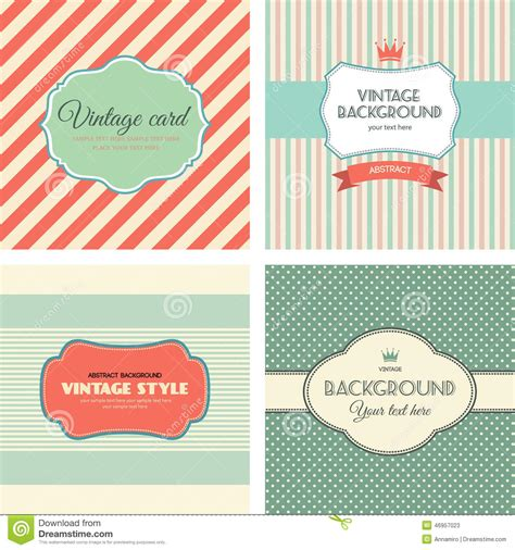 post card label templates collection of vintage labels stock vector image 46957023
