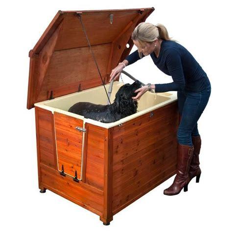 pet bathtub doggyshouse grooming kennel outdoor dog pet bath tub r stairs