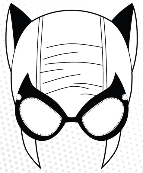 mask clipart cat woman pencil and in color mask clipart