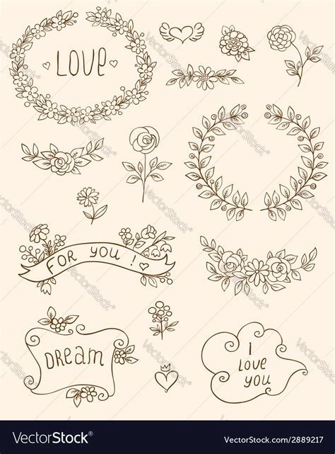 doodle elements doodle elements royalty free vector image