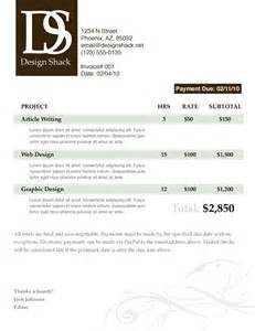 creating a well designed invoice step by step design shack