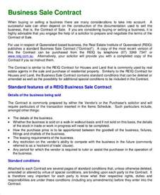 Sle Of Business Template business contract template 7 free word pdf documents