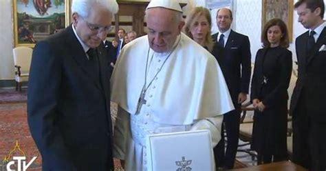 santa sede papa francesco mattarella in visita a papa francesco tra santa sede e
