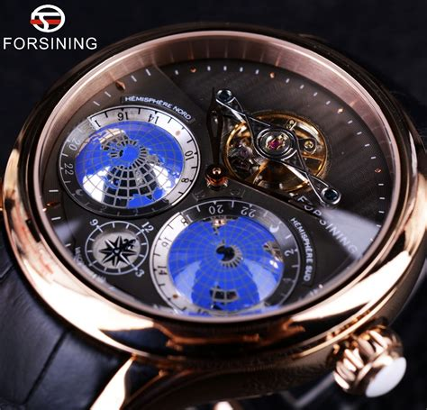 2016 luxury top brand automatic forsining 2016 earth real tourbillion multi dimensional