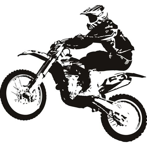black motocross bike dirt bike clipart black and w decor ideas