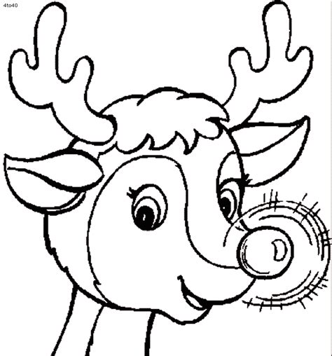 Coloring pages of reindeer az coloring pages