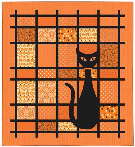 free printable cat quilt patterns quilt inspiration free pattern day halloween