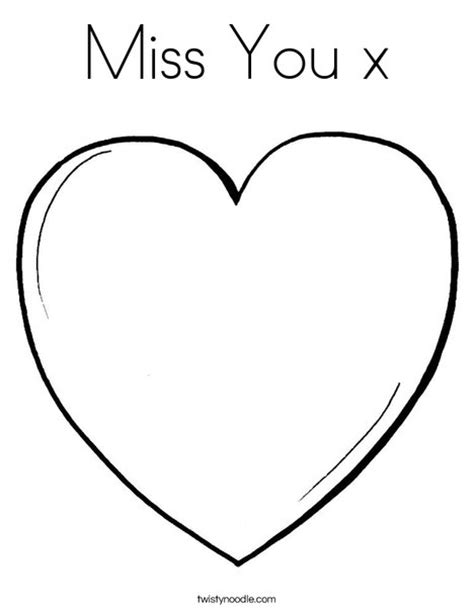 printable coloring pages miss you miss you x coloring page twisty noodle