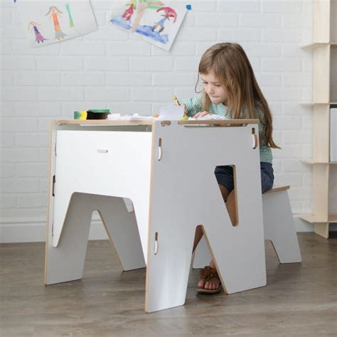 wooden modern kids desk with storage american made
