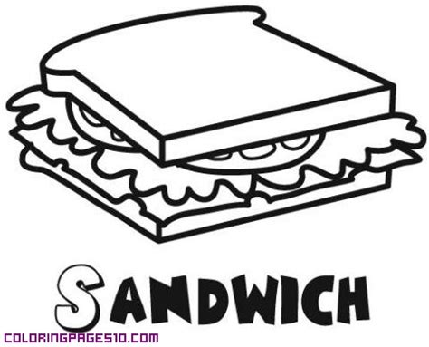 a sandwich for coloring