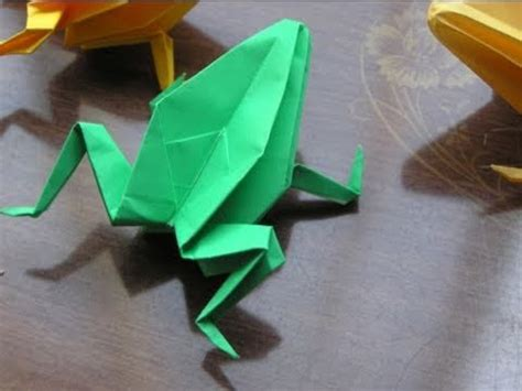 Traditional Origami Frog - japanese traditional origami quot frog quot