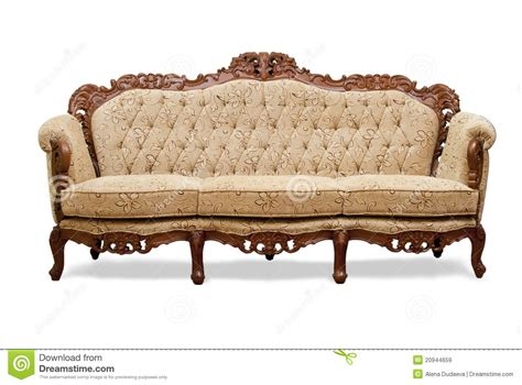 Classico Chair Classical Carved Wooden Sofa Royalty Free Stock Images