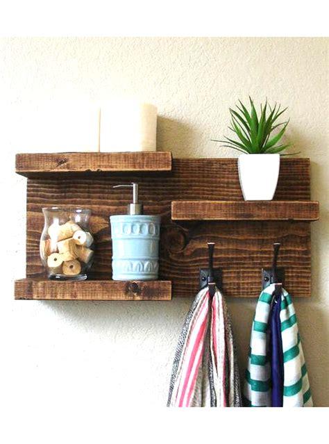 mensole per il bagno mensola da bagno porta asciugamani in legno 60x30x12