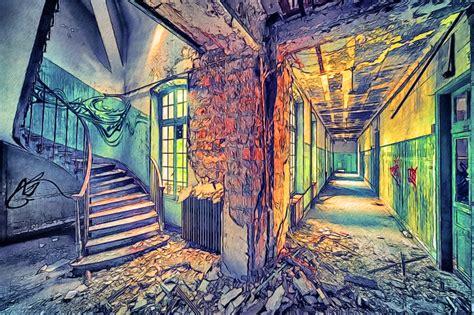 building painting abandoned buildings mathias haker 29 by t douglas painting