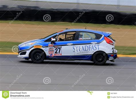 Race On pro ford race car on the course editorial photo image 58278691