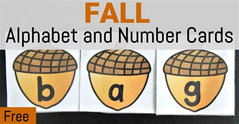 Where Is The Gift Card Number - fall alphabet and number cards the kindergarten connection