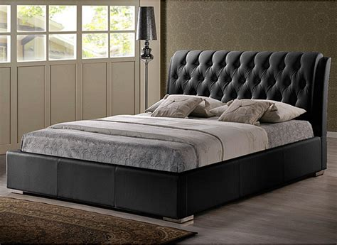 queen sized beds bianca black modern queen size bed with tufted headboard