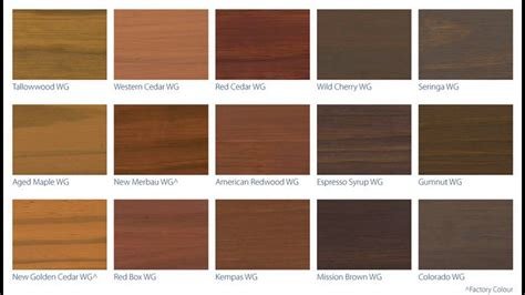 stain colors deck stain color chart