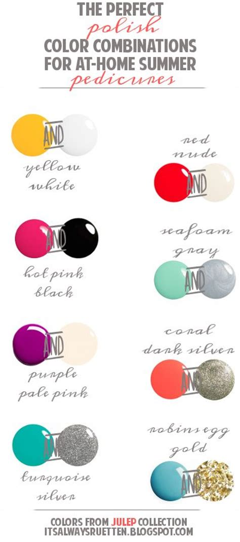 perfect color combinations the perfect polish color combinations for at home summer