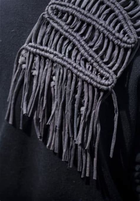 Macrame Techniques - fabric manipulation sustainable fashion using jersey