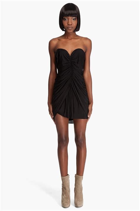 alexander wang draped dress alexander wang draped corset dress in black lyst