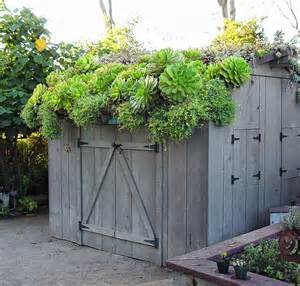 shed w green roof exterior decor landscape