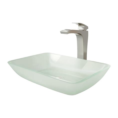 rectangular clear glass vessel sinks vigo rectangular white glass vessel bathroom sink