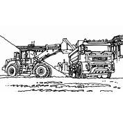 Coloring Pages Excavator 2065682