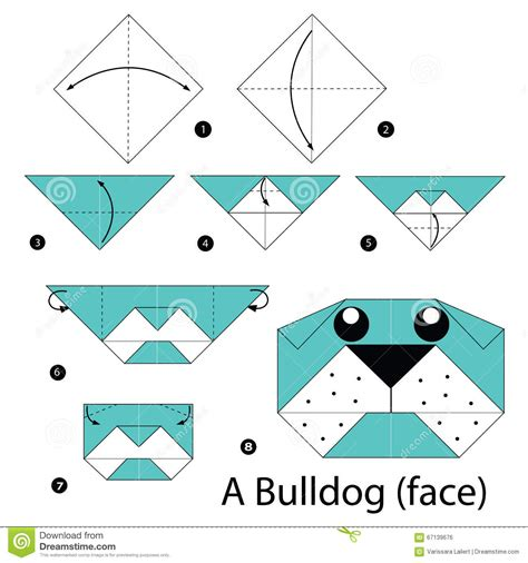 3d Origami Step By Step Illustrations - step by step how to make origami a bulldog