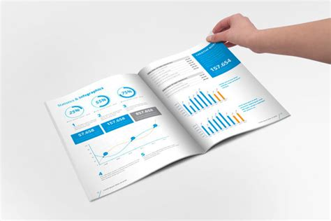 annual report brochure indesign template on behance https