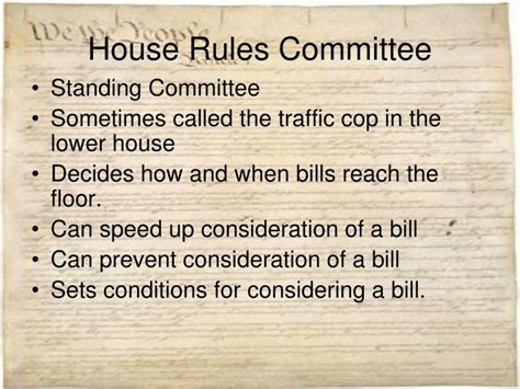 what is the house rules committee ppt congress powerpoint presentation id 1556757