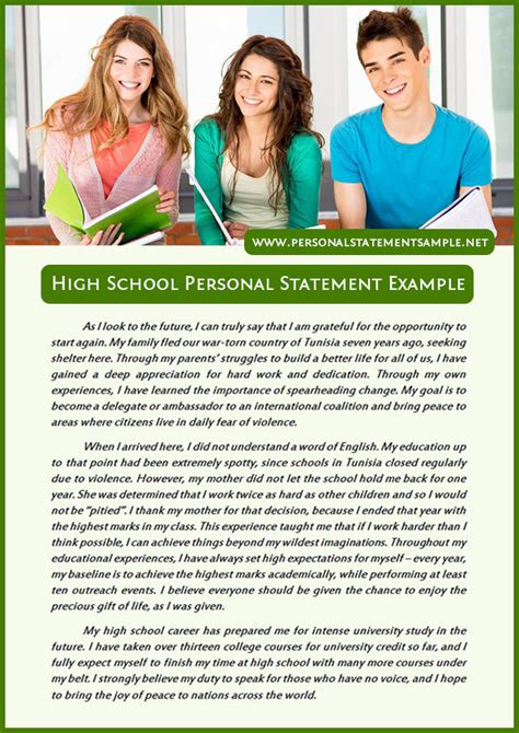 exle of persuasive letter for elementary students how to write a personal statement for high school students
