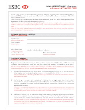 email hsbc indonesia hsbc e statement indonesia fill online printable