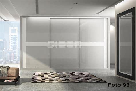 armarios sidon frente de armario de diseno blanco cristal gris insertado