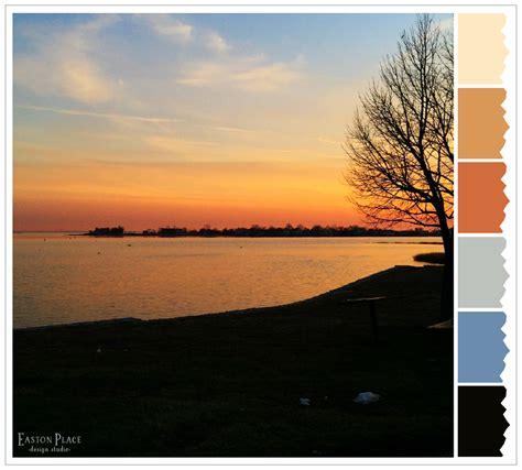 New Home Designs wordlesswednesday winter s sunset color palette easton