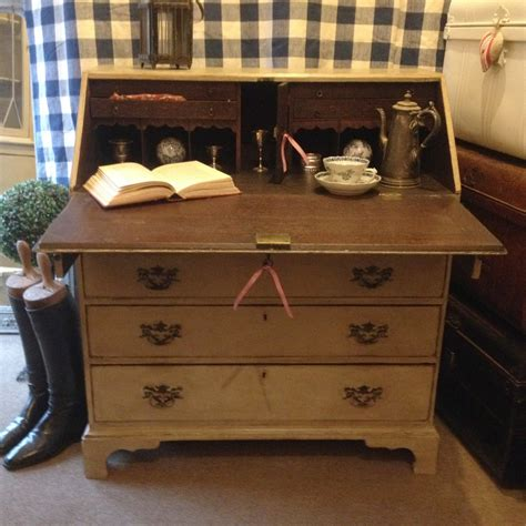 vintage hand painted chest of drawers antique georgian writing bureau chest of drawers hand