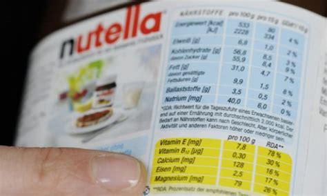 alimenti in tedesco nutella azzerate lo spread italia germania sull etichetta