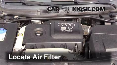 how do cars engines work 2006 audi tt lane departure warning 2000 2006 audi tt quattro engine air filter check 2004 audi tt quattro 1 8l 4 cyl turbo