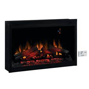 Electric Insert Fireplace Shop Classicflame 36 In Black Electric Fireplace Insert At Lowes