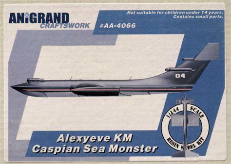 russian flying boat jet anigrand models 1 144 alexyeve km caspian sea monster