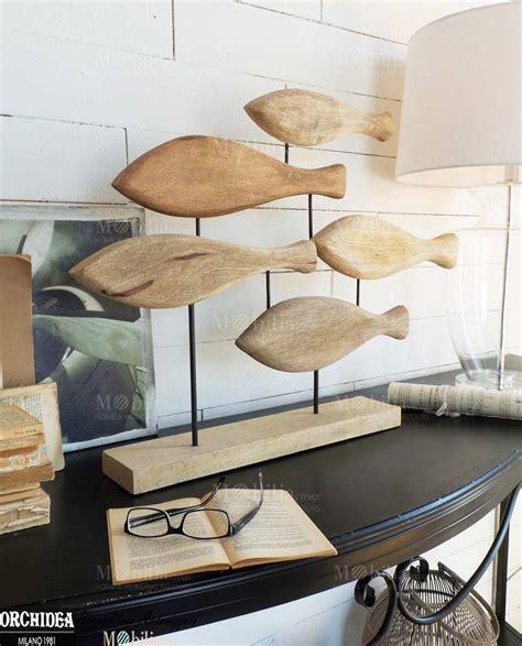 tipi di arredamento cool decorativi pesci legno di mango massello perfetto per