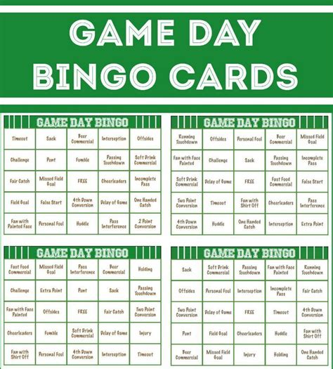 Bowling Bingo Card Template by The 25 Best All Football Ideas On