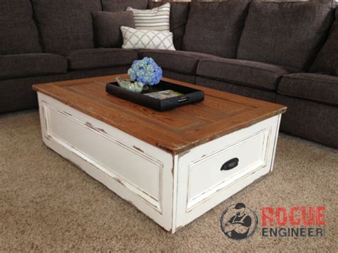diy coffee table with storage free plans rogue engineer - Diy Coffee Table With Storage