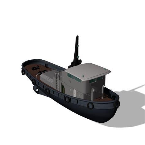 tugboat dwg tug boat 3d obj