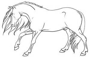 stallion lineart by urilium on deviantart